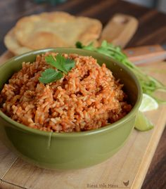 Easy Spanish Rice in the Rice Cooker - the rice cooker does all the work. 3 T of chili powder!!  Should have known better than to put that much in.....no thanks!