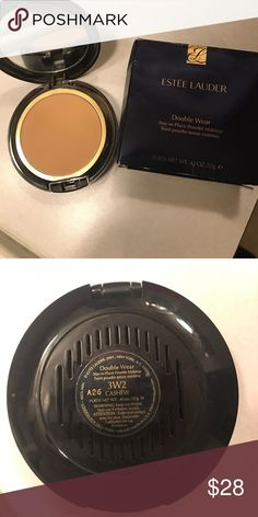 Estée Lauder double wear powder foundation Double wear in cashew. Over 75% of product is still there. Too dark for me. Does not include a brush. Comes with original box. Estee Lauder Makeup Foundation