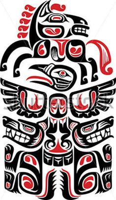 Hawaiian tattoos are a type of tribal tattoos, known for their beautiful designs and symbolism. They have distinct designs and meanings associated with them, thus making them unique from other Polynesian tattoo designs. Haida Tattoo, Hawaiianisches Tattoo, Tattoo Wings, Totem Tattoo, Haida Kunst, Arte Haida, Haida Art, Tribal Tattoos, Native Tattoos