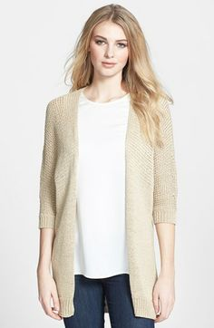MICHAEL Michael Kors Cotton Tape Yarn Cardigan available at #Nordstrom