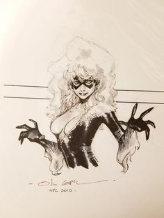 Black Cat by Olivier Coipel Comic Art