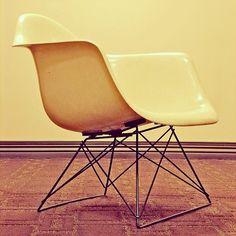 "Image 1 of 4 from gallery of How Charles and Ray Eames' ""Shell Chair"" is Constructed in 12 GIFS. Courtesy of Herman Miller Herman Miller, Ludwig Mies Van Der Rohe, Plywood Chair, Chair Pictures, Charles & Ray Eames, Ray Charles, Mid Century Chair, Eames Chairs, Take A Seat"