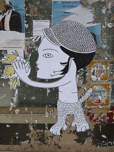 Collage de Fred Le Chevalier dans la rue de Torcy (Paris 18e)  http://www.pariscotejardin.fr/2013/01/collage-de-fred-le-chevalier-dans-la-rue-de-torcy-paris-18e-2/