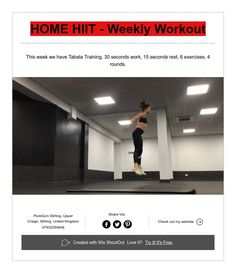 HOME HIIT - Weekly Workout