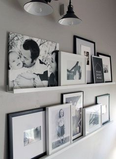 12 Shocking Ideas to Create Nice Looking Family Gallery Wall// gallery wall inspiration, arrangements, styling, home decor for every part of the house, interior decorating Home And Deco, Home And Living, Small Living, Living Area, Diy Home Decor, Art Decor, House Design, Wall Design, Shelf Design