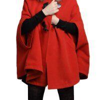 Cape coat with hood