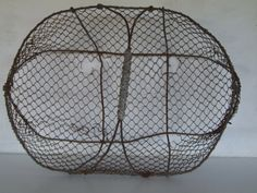 Antique French Wire Oyster Basket//Wire by VintageRetroOddities