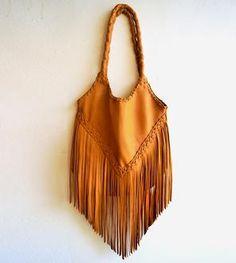 Sierra Fringe Leather Tote Bag