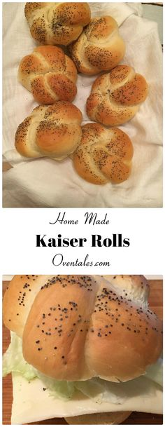 Fresh  kaiser rolls out of  the oven .. perfect  just plain  or  loaded  with  favorite  sandwich  fillings.  All with just a few ingredients.