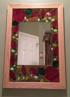 Mosaic mirror Chalk Paint Projects, Stained Glass, Mosaic, Mirror, Painting, Home Decor, Decoration Home, Room Decor, Mirrors