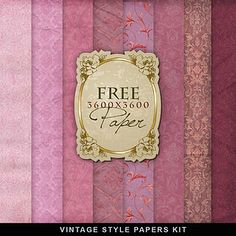 Freebies Old Style Romantic Papers