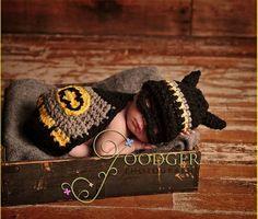 Crochet Baby Batman!!  So cute!