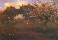 Jan Stanislawski -  Sad z jablonia