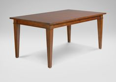 Christopher Dining Table - Ethan Allen 68 long x 42 wide    extend to 104 ? get different legs