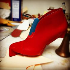 Red bootie mockup. #shoemaking #footweardesign #marcellmrsan Shoemaking, Mockup, Designer Shoes, Rubber Rain Boots, Chelsea Boots, Booty, Ankle, Instagram Posts, Red