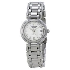 3a65e383238 Longines Prima Luna White Dial Stainless Steel Ladies Watch -- Click image  for more details.