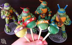 Teenage Mutant Ninja Turtles | Cake Pops by Fiction Food