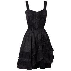 Gothic Lace Black Dress by Jawbreaker ❤ liked on Polyvore featuring dresses, gothic dresses, gothic clothing dresses, lacy dress, goth dresses and gothic lolita dress