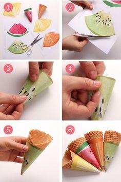 decora conos de helado Más