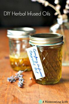 Homemade DIY Herbal Infused Oils