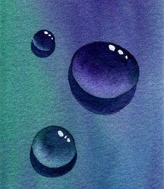 Wassertropfen, spiegelung, Malanleitung