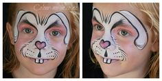 White Rabbit, face painted by Stephanie, www.colour-me-in.co.nz. A really cute Easter design, this looks just as effective with pale blue or purple accents. Bunny Face, Purple Accents, Face Painting Designs, Shrek, Halloween Face Makeup, Rabbit, Cute, Crafts, Color