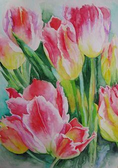 Tulpen (2015) Aquarell nach Foto  Aranka Karl