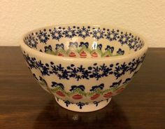 Polish Pottery Fluted Bowl by MimisMiniMarketplace on Etsy