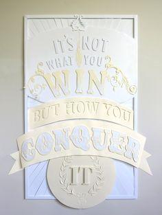 Dominique Falla's paper Conqueror poster