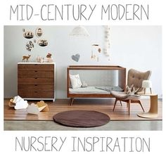 2014 #nursery trend: mid century modern. Grown-up style with baby-appropriate practicalities.