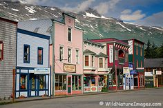 Skagway, Alaska   This is the cutest town!  It reminded me of the town on the show Northern Exposure (one of my fav shows)  I rapelled off the side of a mountain and broke a finger.  The ship doctor wanted to charge me $200 for medical tape to tape my fingers together.  I declined and got Scotch tape from the Purser's desk ;)