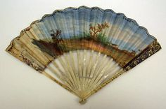 18th century    French fan    ivory, gold, silver