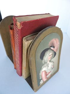 Victorian Lady Bookends Vintage Book Holders by GreenTreeBoutique