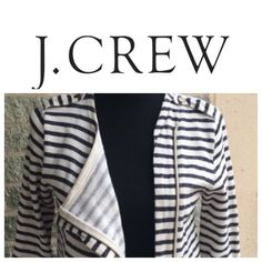 "J. Crew nautical sweater/jacket Great condition no tears stains etc. has pockets 100% cotton ** my dress form is a ""medium"" and this clearly fit her- make me an offer  J. Crew Sweaters"