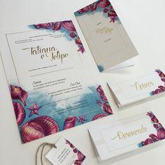 Vai casar na praia? Que tal um convite temático lindo? ❤️😍❤️ #convitedecasamento #casamento #wedding #weddinginvitation #weddingstationery #susanafujita