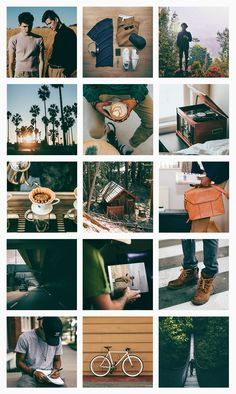 Cool hipster modern warm masculine fashion rustic orange and green pretty organized tidy Instagram feed | Direção de arte para instagram ⋆ Pashion Studio