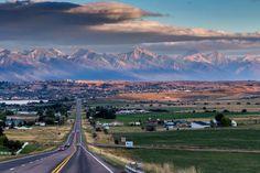 Entering Polson.                            Lake County, Montana