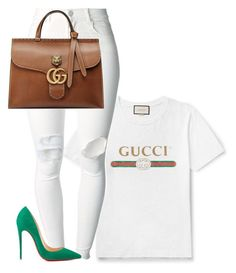 Untitled #1957 by flyyshitonly on Polyvore featuring polyvore fashion style (+) PEOPLE Christian Louboutin Gucci clothing