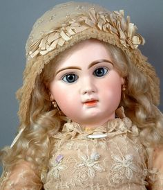 "26"" Gorgeous All Original Tete Jumeau Bebe Size 12 Extra Wig"