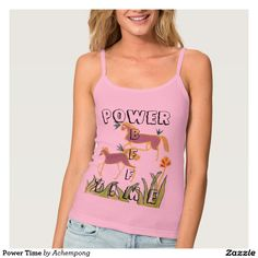Power Time Spaghetti Strap Tank Top #Style: Women's American Apparel Spaghetti Strap Tank Top Always a classic silhouette, the American Apparel tank top is one of the most #popular #styles. #Made from 100% #soft #cotton, it's the #perfect #tank to wear alone or under a #cardigan. Hits below the natural #waist #line. #Amazing #beautiful #stuff #products #sold on #Zazzle #Achempong #online #store for #the #ultimate #shopping #experienc