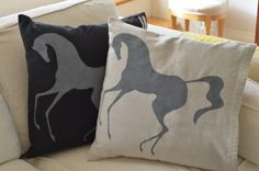 Two Augustus pillows