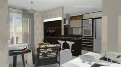 sala cozinha sala cozinha  - Galeria de Projetos Promob