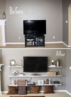Top Cool Ideas: Living Room Remodel With Fireplace Bookcases living room remodel on a budget life.Living Room Remodel On A Budget Tips living room remodel ideas awesome.Living Room Remodel On A Budget Tips. Sweet Home, My Living Room, Home And Living, Modern Living, Minimalist Living, Minimalist Apartment, Modern Tv, Living Area, Simple Living