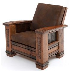 The Upholstered Barnwood Chair is a gorgeous piece of furniture that will elevate the look of any room in the home or workplace. Made with beautifully antiqued barnwood, this character-rich piece offers the comfort and durability you would expect from Pallet Furniture, Rustic Furniture, Furniture Design, Antique Furniture, Furniture Decor, Furniture Buyers, Cabin Furniture, Western Furniture, Furniture Dolly