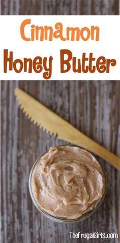 – The Frugal Girls Easy Cinnamon Honey Butter Spread! – The Frugal Girls Flavored Butter, Homemade Butter, Dips, Cinnamon Honey Butter, Honey Butter Recipe For Cornbread, Butter Spread, Honey Recipes, Cinnamon Recipes, Paleo Recipes