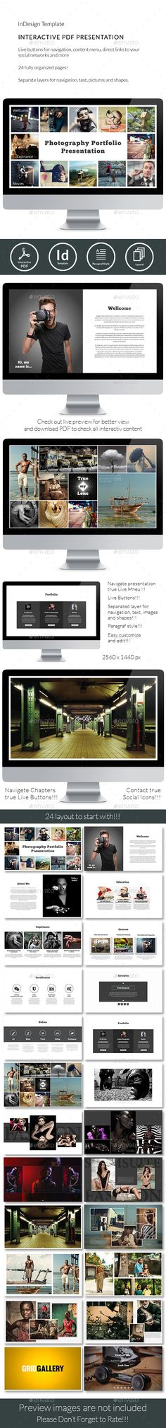 Interactive Pdf Photographer Portfolio No7 Epublishing Design Template Indesign Indd Here Http