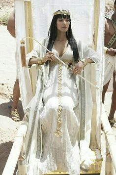 nefertiti's dress for the wedding [I believe that this is Padma Lakshmi in The Ten Commandments, a 2006 TV series]