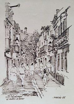 Carrer de l'Ajuntament, Sant Andreu de Palomar (Barcelona). Joaquim Francés -tinta/ink-