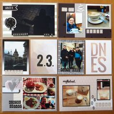 Budapest - day 1 - left page Happy Mail, Quito, Budapest, Gallery Wall, Pocket, Day, Frame, Picture Frame, Merry Mail