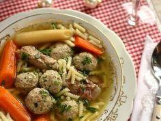 Karácsonyi Kacsaleves, csomboros húsos betéttel - Falatom Chicken, Meat, Food, Essen, Meals, Yemek, Eten, Cubs